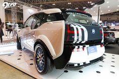 2015年東京オートサロン The signage says it all, world's first modified BMW i3 by Garage EVE.RYN.