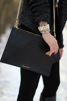 Gorgeous croc-print bag #bags #accessories