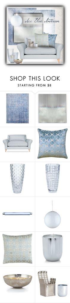 """Ice Blue Interior"" by sapora ❤ liked on Polyvore featuring interior, interiors, interior design, home, home decor, interior decorating, Benson-Cobb Studios, Laurèl, Sea Gull Lighting and John Robshaw"