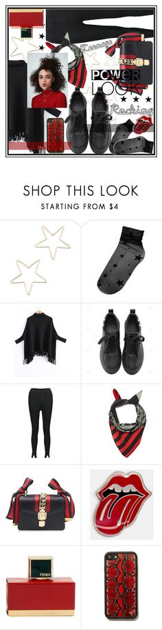 """""""Rocking this power look,rules by fashion book!⭐️"""" by jelena-bozovic-1 on Polyvore featuring Shashi, Steve Madden, Rockins and Fendi"""
