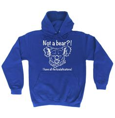 123t USA Not A Bear I Have All The Koalafications Funny Hoodie