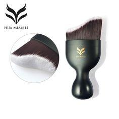 HUAMIANLI Wave Shape Liquid Foundation Brush Makeup Tools Synthetic Hair Brushes Super Soft Contour Powder Naked Make Up Brush