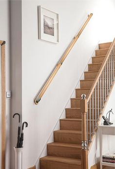 Stair Walls Oak Stairs Victorian Terrace Hallway Wall Mounted Handrail