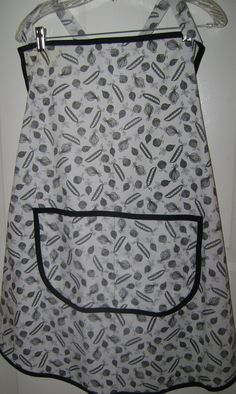Bib Apron Black and White Vegetables  2058 Extra by TheKraftyKats (Home & Living, Kitchen & Dining, Linens, Aprons, apron, kitchen apron, handmade apron, fruit veggie apron, black white apron, hostess apron, women's apron, baking, accessories, housewares, bib apron, Mom's gift apron, Mother's Day apron)