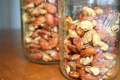 Roast nuts as soon as you get home from the store, then store them in the freezer. Nuts that are roasted have more flavor, keep longer, and can always be used in recipes that call for nuts, roasted or otherwise. Spread them in a single layer on a sheet pan, bake in a 350 degree oven for 15 minutes, or until golden brown and fragrant.