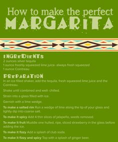Try this easy recipe for making a classic margarita. It's a great party drink.