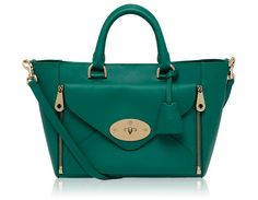 Mulberry - Small Willow Tote in Emerald Silky Classic Calf