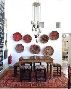 decoration murs paniers