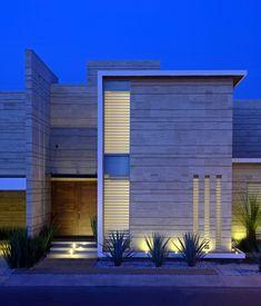 facade 271 JI Studio have designed the Navona in Pachuca, Mexico. Architecture Résidentielle, Beautiful Architecture, Contemporary Architecture, Contemporary Design, Design Exterior, Modern Exterior, Facade House, Modern House Design, Modern Houses