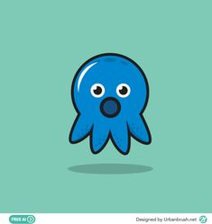 Squid Drawing, Octopus, Smurfs, Drawings, Illustration, Fictional Characters, Baby, Sketches, Illustrations