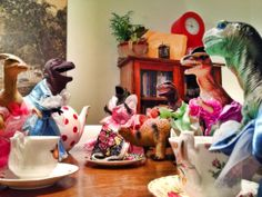 Dinos at night! It's the same as the Elf on the Shelve, but funnier!