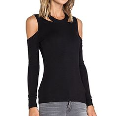 May&Maya Women's Black Long Sleeve with Cut Out Detail Craving Tops Shirt Blouse (L) May&Maya http://www.amazon.com/dp/B00MBCEW04/ref=cm_sw_r_pi_dp_rHb8ub1364003
