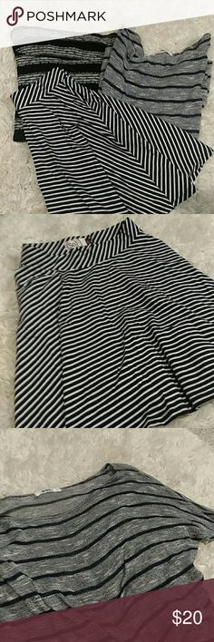 BUNDLE - Stripe Lovers Bundle! Two knit striped tops and one striped skirt! Will also sell separately. Tops