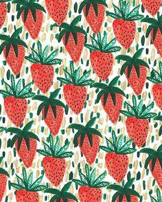 Favorite Pins - Strawberry pattern - strawberries // aidamollenkamp.com #pairswellwithfood
