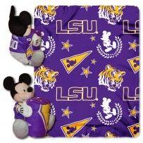 LSU Tigers Mickey Hugger and Fleece Throw Set