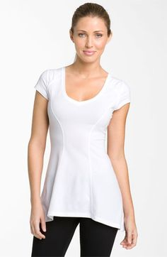 with longer sleeves and a different colour, it'd be great for me. Zella 'Captivating' Tee #nordstrom