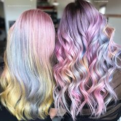 Pastel Twinsies  @hairbykristinamarie + @stephanysmithhair #pastelbalayage