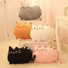 Galletas de dibujos animados lindo cojín almohada gato
