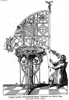 Johannes Hevelius, polonais, 1611-1687. Astronome qui, dans l'histoire de sa discipline se place entre Galilée et Newton. Auteur d'une topographie de la lune, découvreur de comètes, compilateur d'un catalogue d'étoiles, il a aussi inventé des instruments scientifiques.