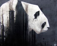 Global Destruction #panda #pollution #factory