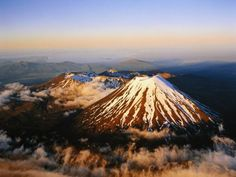 Mount Ngauruhoe, on New Zealand's North Island, which served as Mount Doom in Peter Jackson's Lord of the Rings film trilogy.