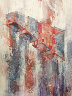Kinzie by Jacob van Loon. (Watercolor, acrylic and graphite on panel.)