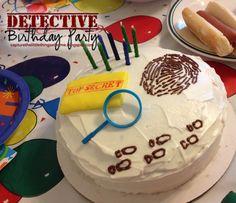 Detective Birthday Party cake