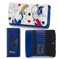 Following Alice is a Chore: http://www.inkedshop.com/alice-and-white-rabbit-wallet-loungefly-multi.html