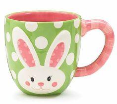 Bunny Face Easter Mug Cup 18oz  by Burton & Burton
