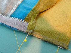Farbenmix: Reißverschluss mit Bündchen in ungefütteter Jacke