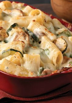 Creamy Zucchini & Spinach Rigatoni – Get 'em to say Yes! to zucchini—and spinach—with this creamy rigatoni pasta recipe featuring KRAFT Cheese. Just another day in the life of a dinnertime rock-star.