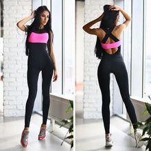 Women's Clothing Candid Womens Sport Gym Rompers Suit Fitness Workout Jumpsuit Bodysuits Sexy Backless