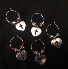 Wine glass charms. Ideal for Sound of Music or Sister Act