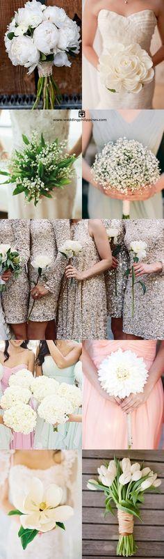 Wedding Philippines - White Single Bloom Flower Bouquet Ideas
