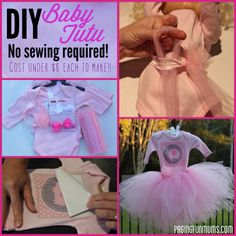 DIY Baby Tutu - No sewing what a cute baby girl shower gift!