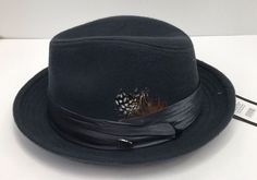 42ed1779593a Men's Fedora Charcoal Dress Hat Montell Bruno Capelo Wool Blend Size  Small/Med