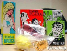Bromas ochentereas, que aun vendemos.Puedes comprar tus chuches en www.martinfloressl.es