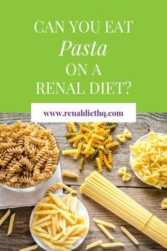 Does pasta make the list as an approved food for kidney disease? Following a renal diet for optimal kidney health can be tough at first. But in this post, you'll learn what meals you can have and which pasta to avoid, plus you'll get 5 renal diet recipe Kidney Recipes, Raw Food Recipes, Diet Recipes, Vegetarian Recipes, Kidney Foods, Renal Diet Menu, Kidney Friendly Foods, Kidney Disease Diet, Kidney Health