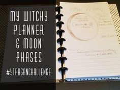 My Witchy Planner & Moon Phases Planner Book, Life Planner, Happy Planner, Planners, Planner Organization, Organizing, Spiritual Path, Moon Phases, Bullet Journal Inspiration