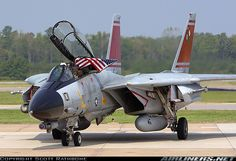 Grumman F-14D. Note the angle of the air intakes.