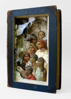 "Alexander Korzer-Robinson's  altered book art about the ""inner landscape""."