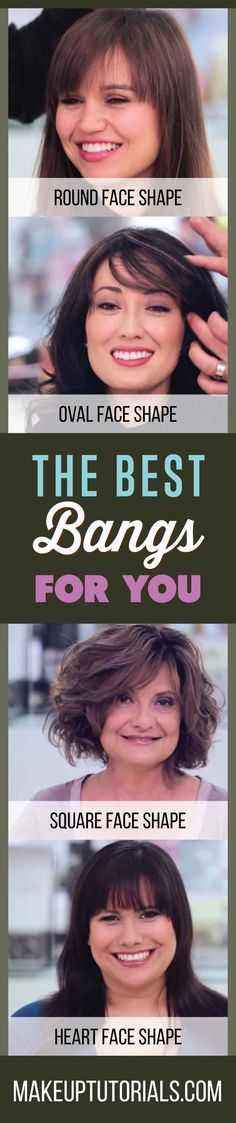 How To Know What The Best Bangs For Your Face Shape Are By Makeup Tutorials. http://makeuptutorials.com/makeup-tutorials-the-best-bangs-for-your-face-shape/