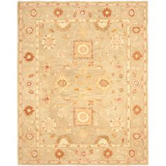 @Overstock - Hand-made Farahan Sage Hand-spun Wool Rug (8' x 10') - Highlight your decor with this sumptuous handmade wool rug with a rich, thick pile woven from premium wool. Using an ancient pot-dying technique, this area rug is imbued with a soft, subtle sage color accented by green, rust, and beige.    http://www.overstock.com/Home-Garden/Hand-made-Farahan-Sage-Hand-spun-Wool-Rug-8-x-10/6425639/product.html?CID=214117  $412.19