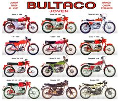 Bultaco / Joven / 49 - Junior - Streaker - Chispa - Tirón - Brinco Bultaco Motorcycles, Street Motorcycles, Cars And Motorcycles, Moto Bike, Motorcycle Bike, Classic Motorcycle, Old Bikes, Dirt Bikes, Vintage Bikes
