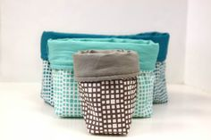 Stitch up a set of three nesting fabric bins to keep your sewing, crafting, or office space neat and tidy!