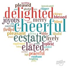 """There are so many different ways to say """"happy""""... Here's a collection of happy words for you straight from my heart :)  Share the happy love!  ♥♥♥♥ ❤ ❥❤ ❥❤ ❥♥♥♥♥"""