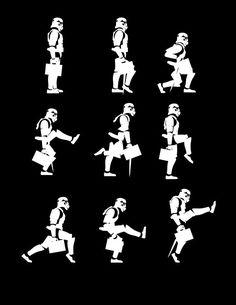 star wars t-shirt Ministry of Silly Trooper Walks - Funny mens womens Star Wars Monty Python tshirt