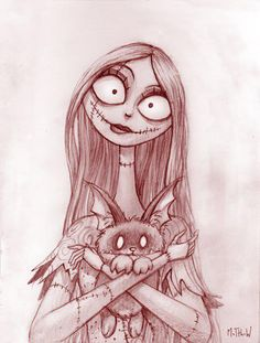 My next tattoo (going today 6/9/2012) Sally :) Going on the left side of my neck, opposite my Jack Skellington tattoo :) SEE THE FINISHED TATTOO! http://pinterest.com/pin/123567583496482591/