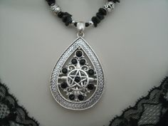 Gypsy Witch Pentacle Necklace wiccan jewelry pagan by Sheekydoodle, $34.00