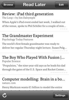 Instapaper to save articles for later